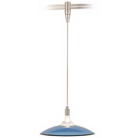 Diz Steel Blue Glass Satin Nickel Tech Lighting MonoRail Pendant