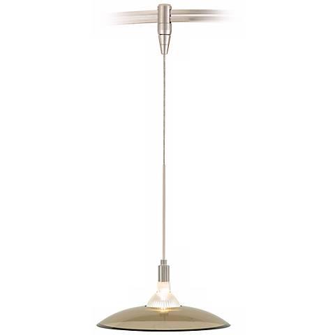 Diz Havana Brown Satin Nickel Tech Lighting MonoRail Pendant