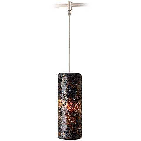 Veil Brown Glass Satin Nickel Tech Lighting MonoRail Pendant