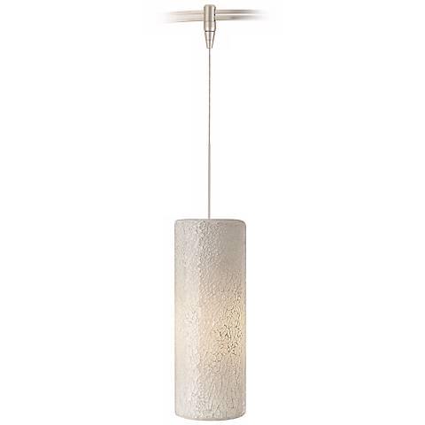 Veil White Glass Satin Nickel LED Tech Lighting MonoRail Pendant