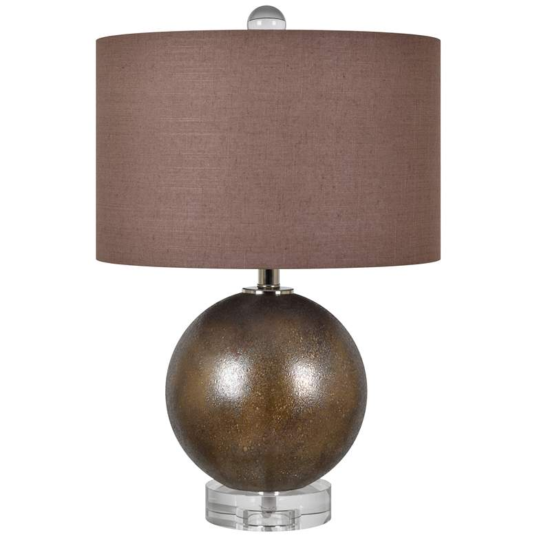 Crestview Collection Omni II Copper Glass Table Lamp