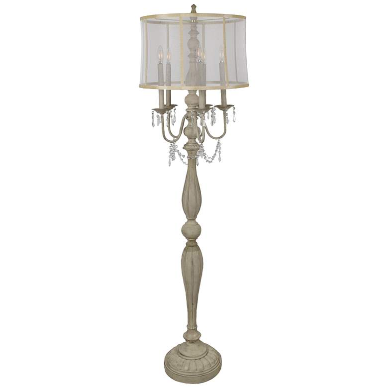 Crestview Collection Gabby French White 5-Light Floor Lamp