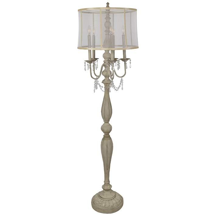 Gabby French White 5 Light Floor Lamp