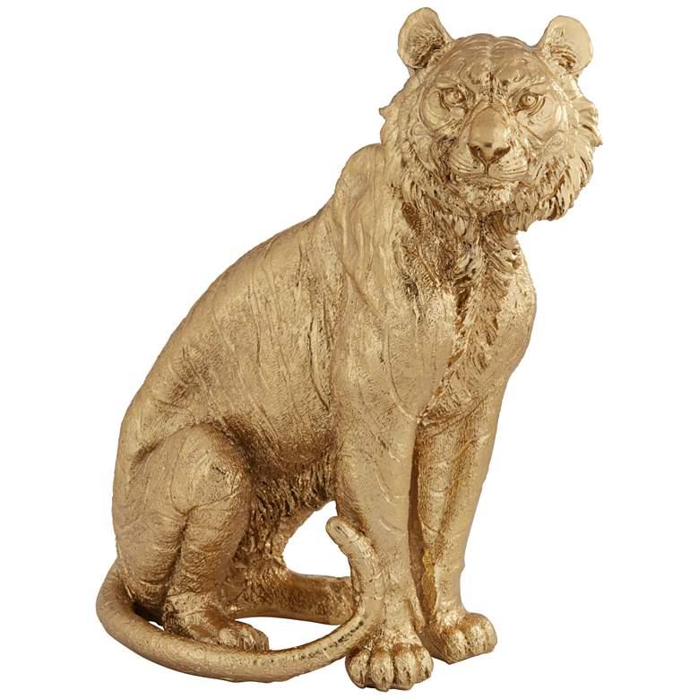 "Tiger 11"" High Shiny Gold Figurine"