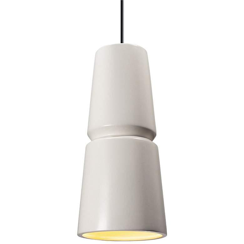 """Radiance Small Cone 6"""" Wide Matte White Ceramic Mini Pendant"""