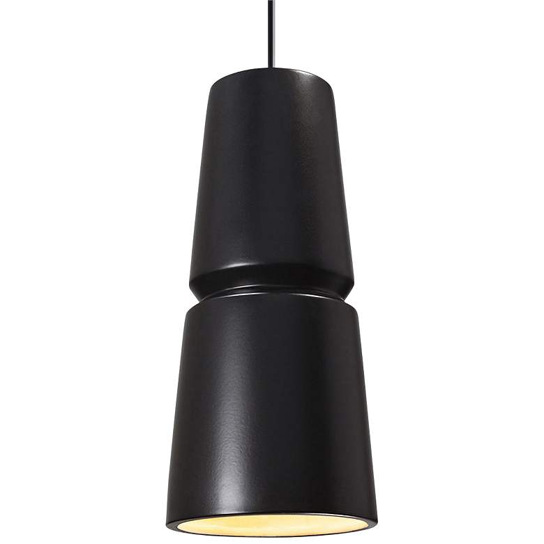 "Radiance Small Cone 6"" Wide Matte Black Ceramic"