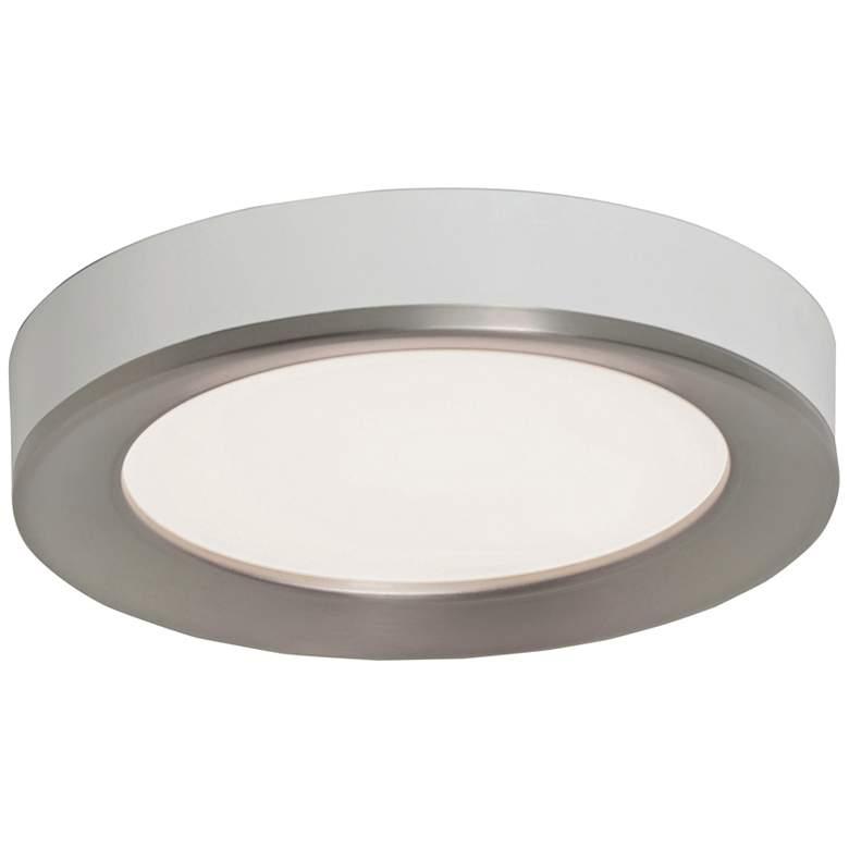 "Alta 16"" Wide Satin Nickel Round LED Ceiling Light"