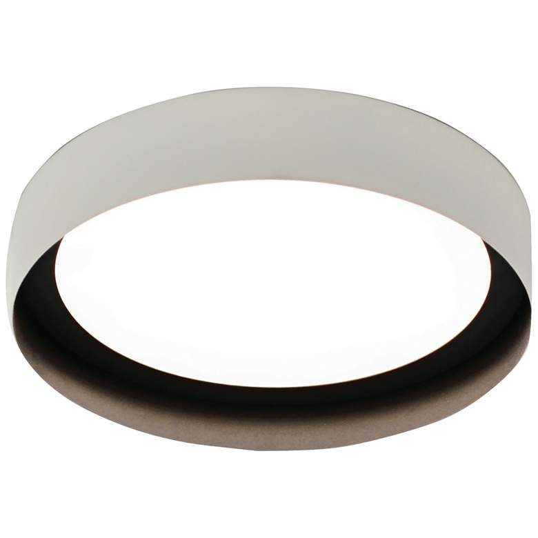 """Reveal 12"""" Wide White and Black Round LED Ceiling Light"""