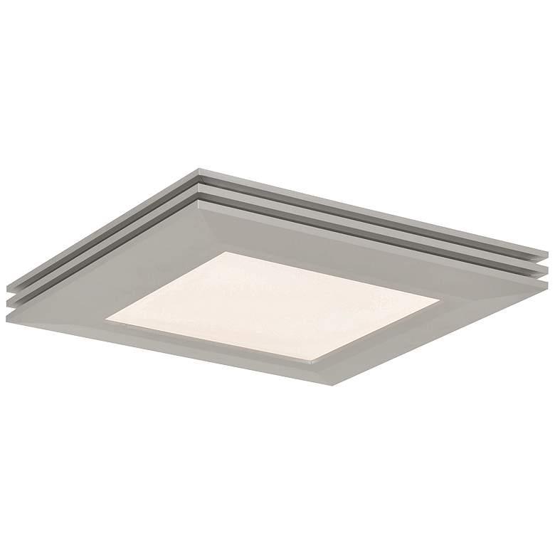 """Sloane 15"""" Square Satin Nickel LED Ceiling Light"""