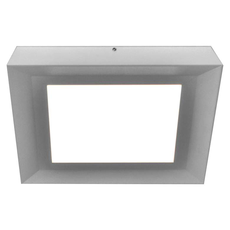 "Zurich 15"" Square Satin Nickel LED Ceiling Light"