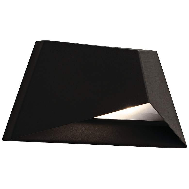 "Concord 4 1/2"" High Black Wall Wash LED"