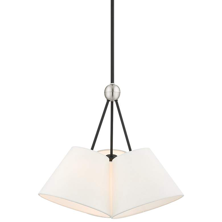 "Prato 21"" Wide Black 3-Light Pendant Light"