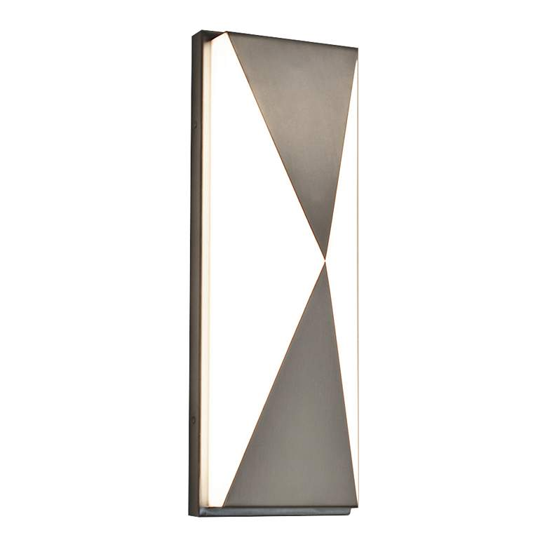 "Novara 13"" High Satin Nickel LED Wall Sconce"