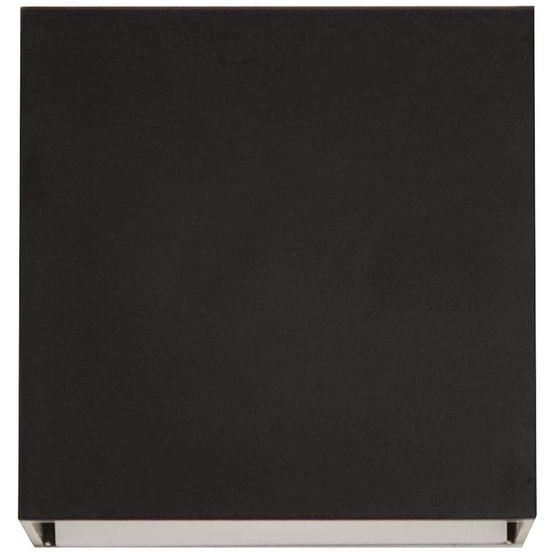 """Zoe 5"""" High Black Square Wall Wash LED Wall Sconce"""
