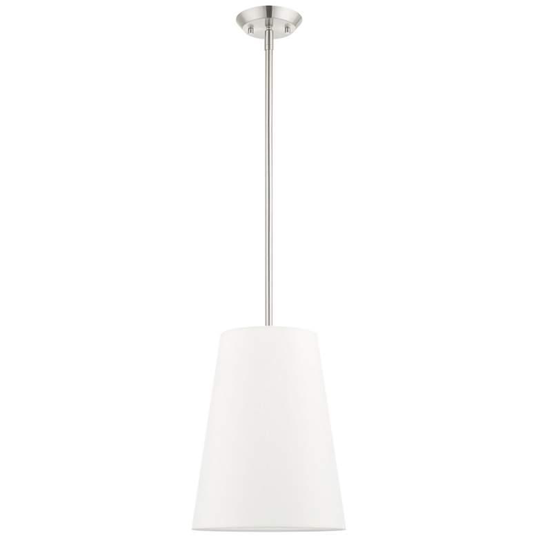 "Prato 11"" Wide Brushed Nickel Mini Pendant Light"