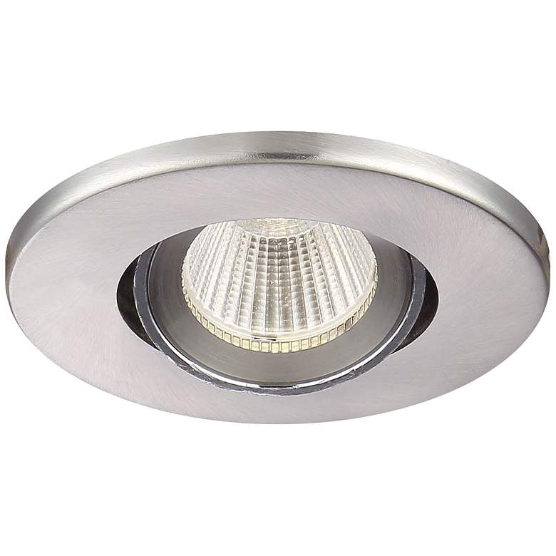 "Eurofase 3 1/2"" Brushed Nickel LED Gimbal Recessed Downlight"