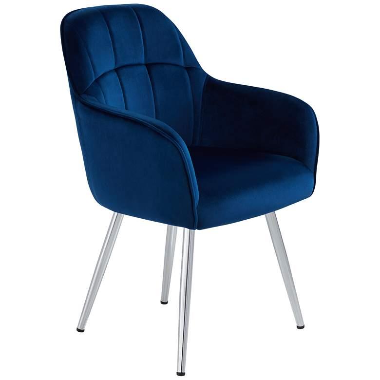 Prentice Blue Velvet Modern Dining Chair