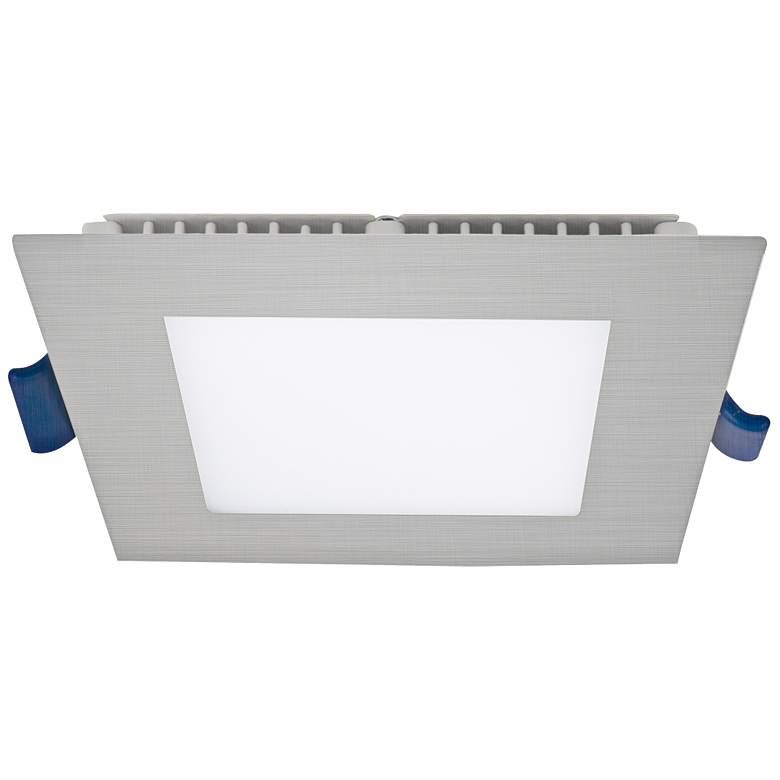 "Eurofase 4"" Brushed Nickel LED Ultra Slim Square"