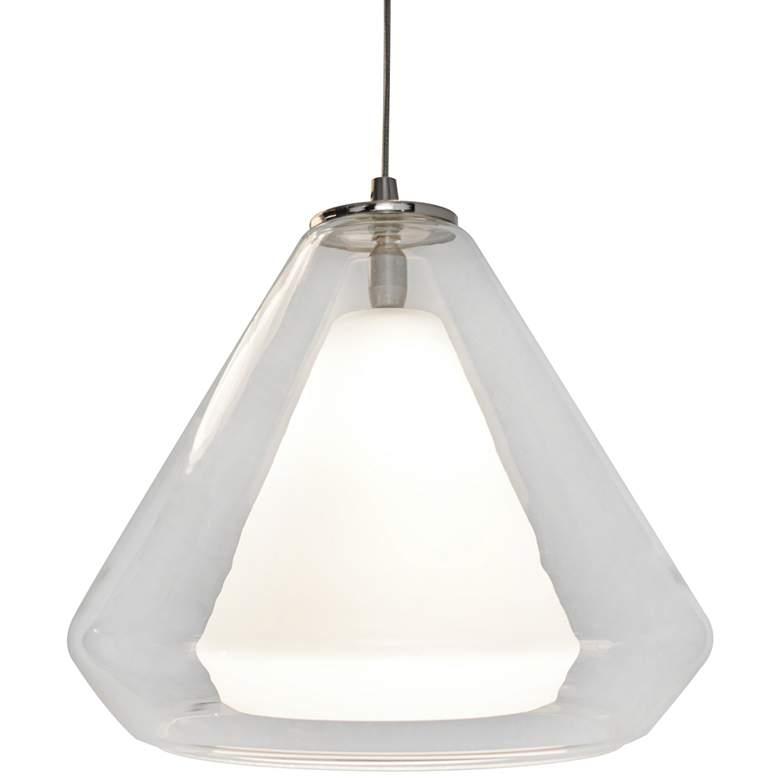 "Armitage 10""W Satin Nickel LED Mini Pendant with Clear Glass"