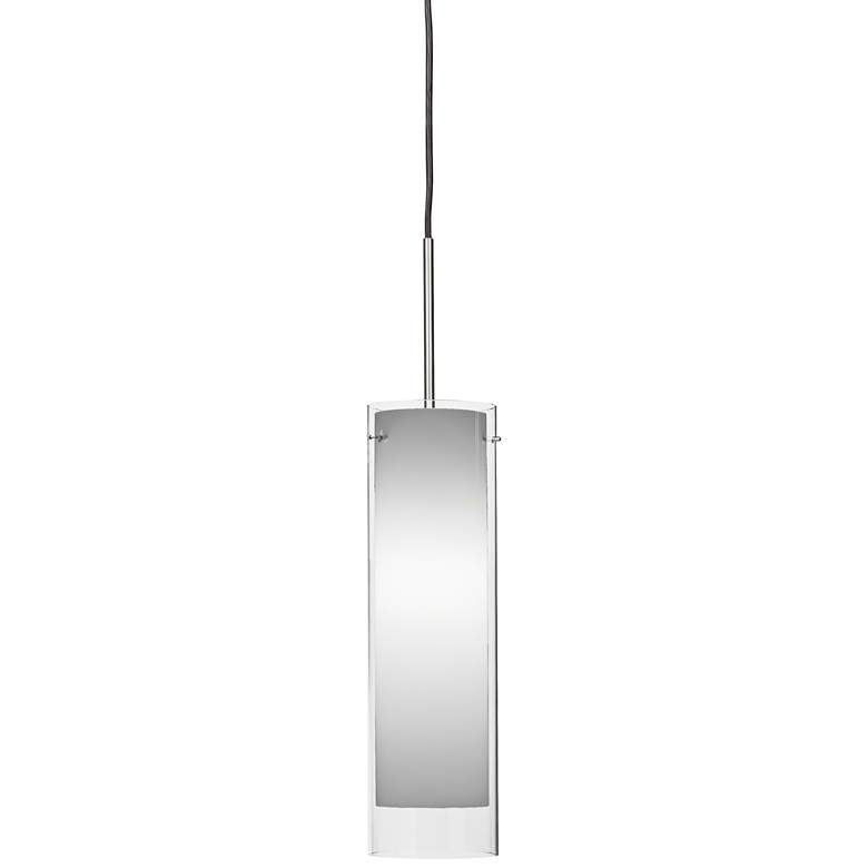 "View 4 3/4""W Satin Nickel LED Mini Pendant with White Glass"