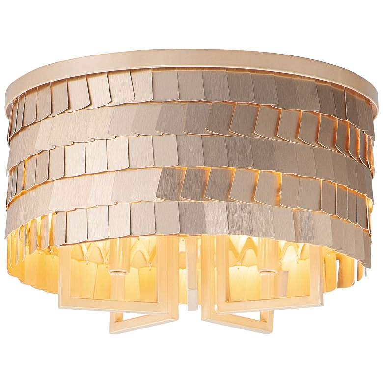 "Maxim Glamour 16 1/2"" Wide Champagne Gold Ceiling Light"