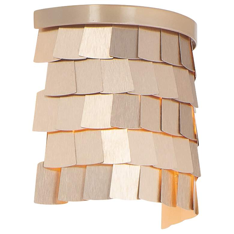"""Maxim Glamour 7 1/2"""" High Champagne Gold Wall Sconce"""