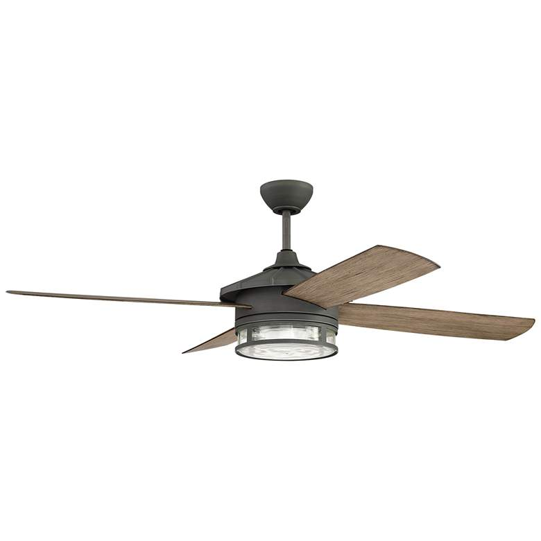"52"" Craftmade Stockman Aged Galvanized Wet Rated LED Ceiling Fan"