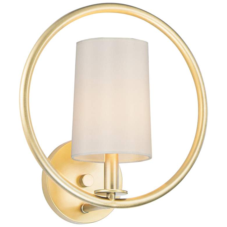 """Maxim Meridian 13"""" High Natural Aged Brass Wall Sconce"""