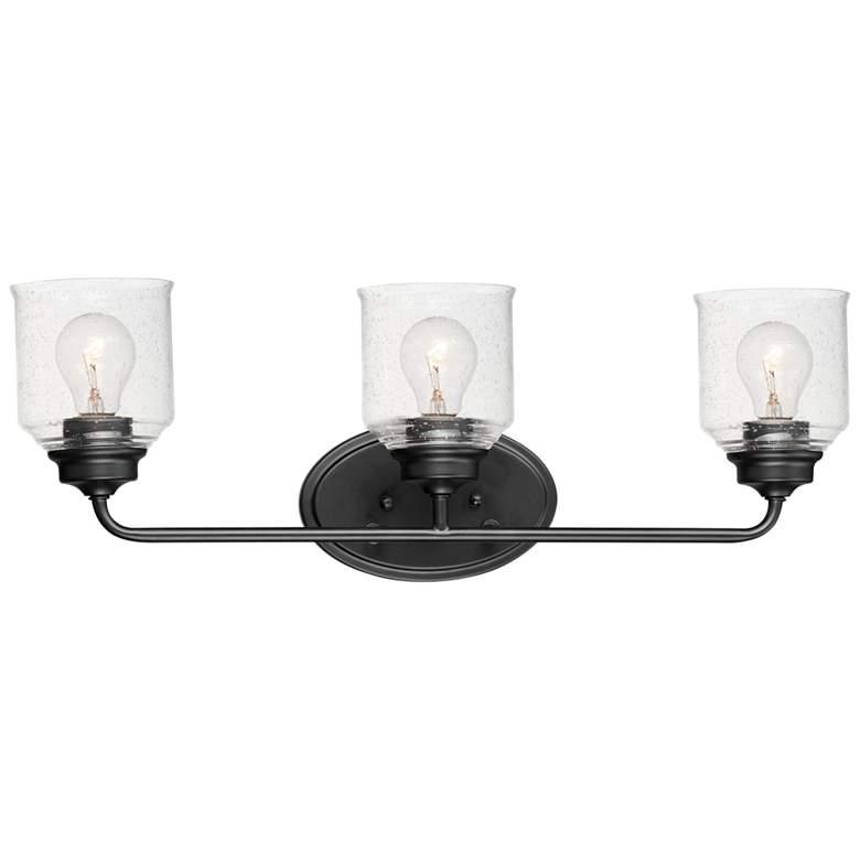 "Maxim Acadia 25"" Wide Black 3-Light Bath Light"