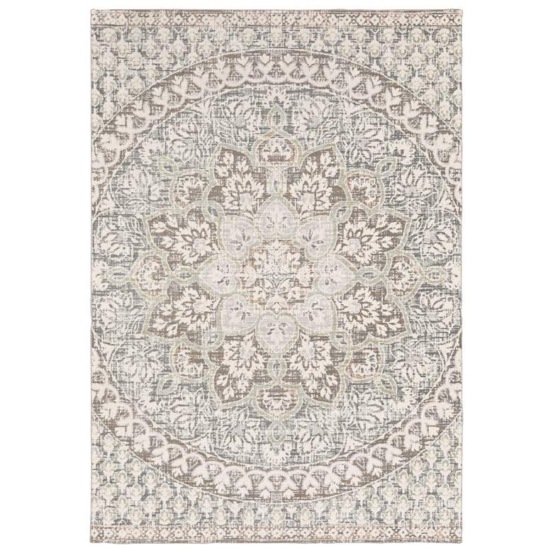 Capistrano Ivory and Gray Medallion Area Rug