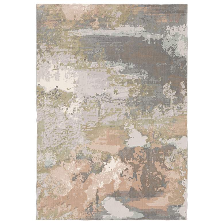 """Capistrano 5'3""""x7'6"""" Gray and Pink Abstract Area Rug"""