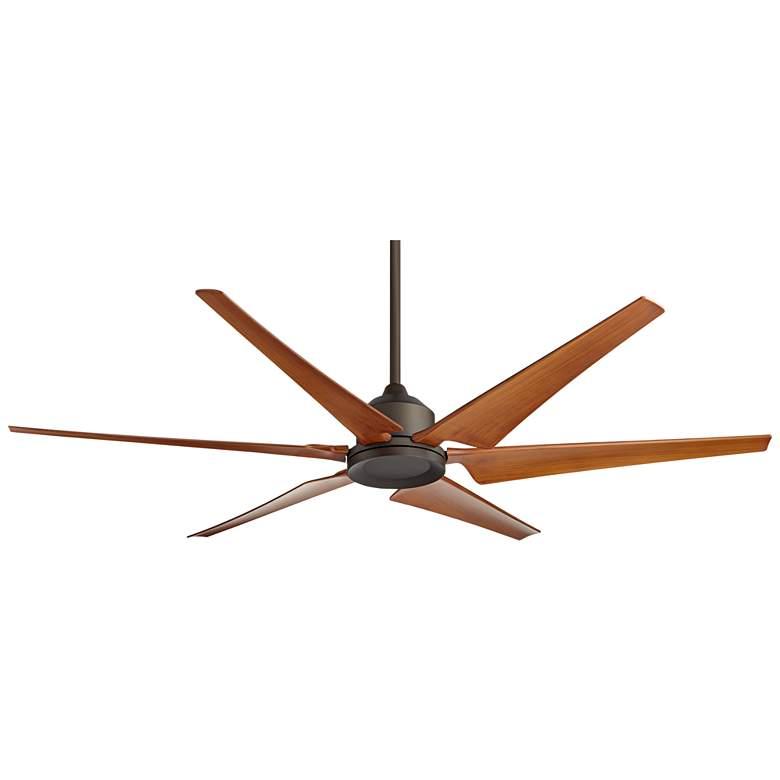 """72"""" Power Hawk Oil-Rubbed Bronze Damp Outdoor Ceiling Fan"""