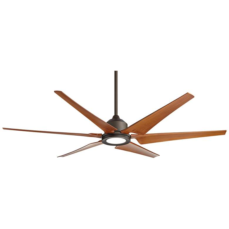 """72"""" Power Hawk Oil-Rubbed Bronze Damp Rated LED Ceiling Fan"""