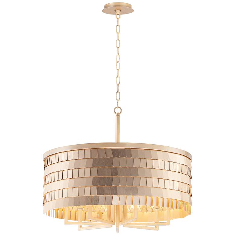 "Maxim Glamour 24"" Wide Champagne and Gold Pendant Light"