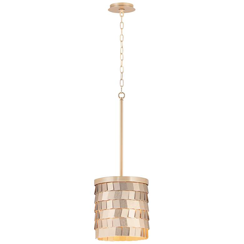 "Maxim Glamour 8 1/2""W Champagne and Gold Mini Pendant Light"