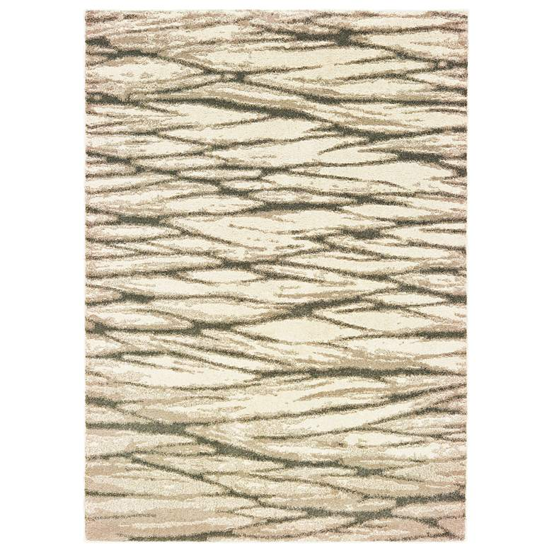 Carson Ivory and Sand Abstract Area Rug