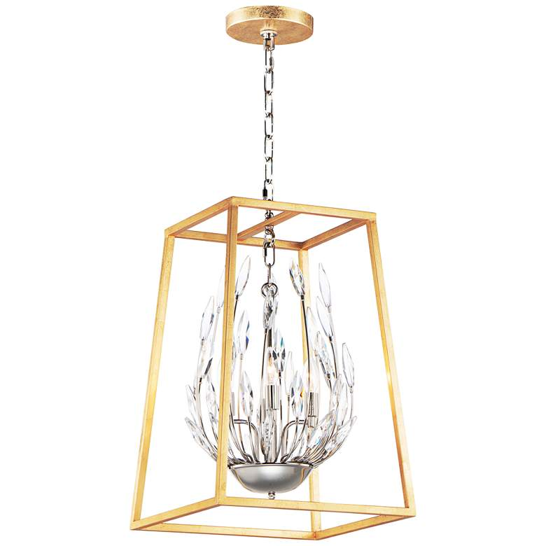 """Maxim Bouquet 16"""" Wide Gold and Nickel Foyer Pendant Light"""
