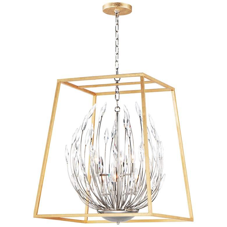 "Maxim Bouquet 24 1/2""W Gold and Nickel Foyer Pendant Light"