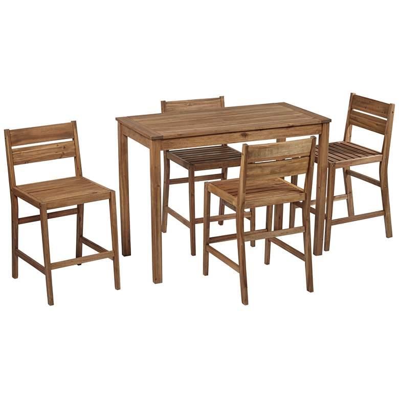 Nova 5-Piece Outdoor Bar Table with 4 Counter Stools