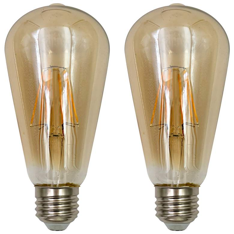 75W Equivalent Amber 8W LED Dimmable Standard ST21