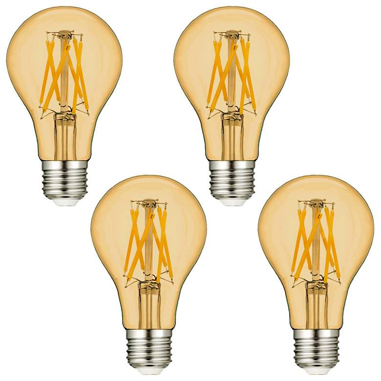 60W Equivalent Amber 7W LED Dimmable Standard A19