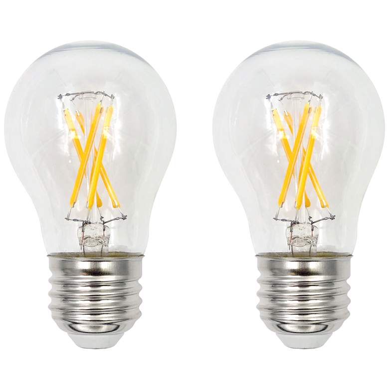 60W Equivalent Clear 5W LED Dimmable Standard A15 2-Pack