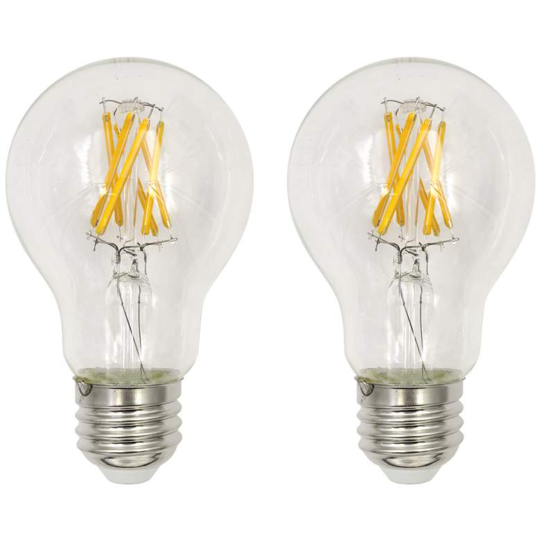 60W Equivalent Clear 7W LED Dimmable Standard A19 2-Pack