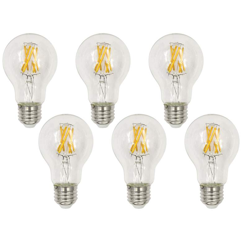 60W Equivalent Clear 7W LED Dimmable Standard A19 6-Pack