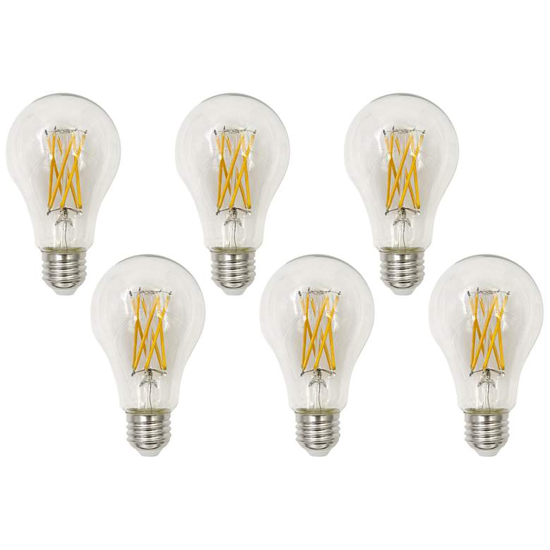 150W Equivalent Clear 15W LED Dimmable Standard A23 6-Pack