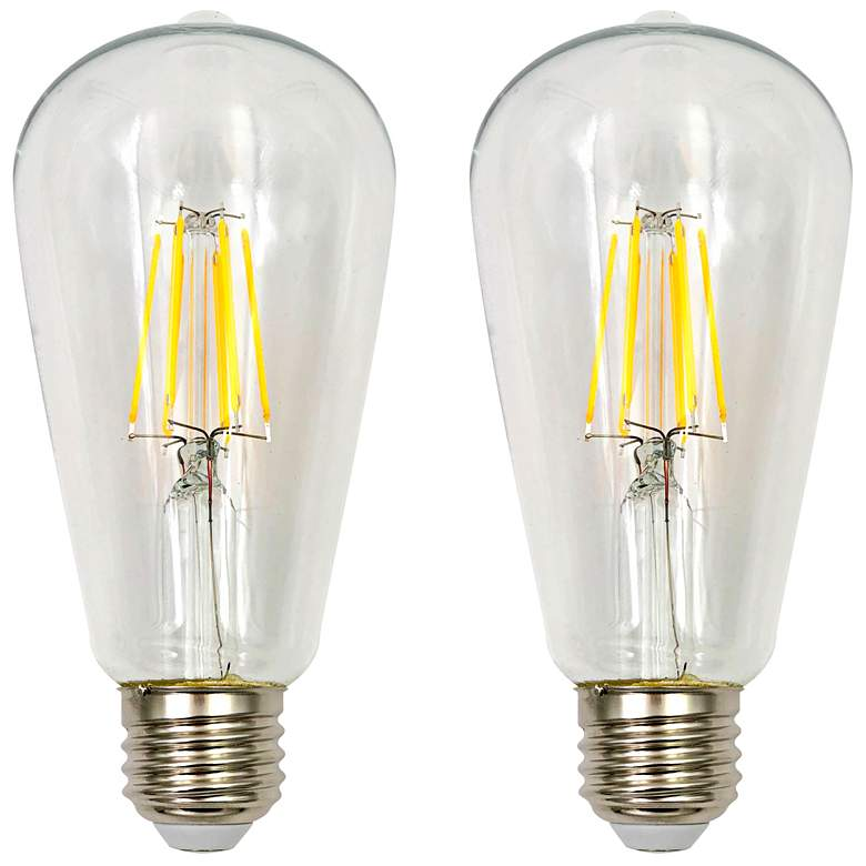 100W Equivalent Clear 15W LED Dimmable Standard ST21 2-Pack