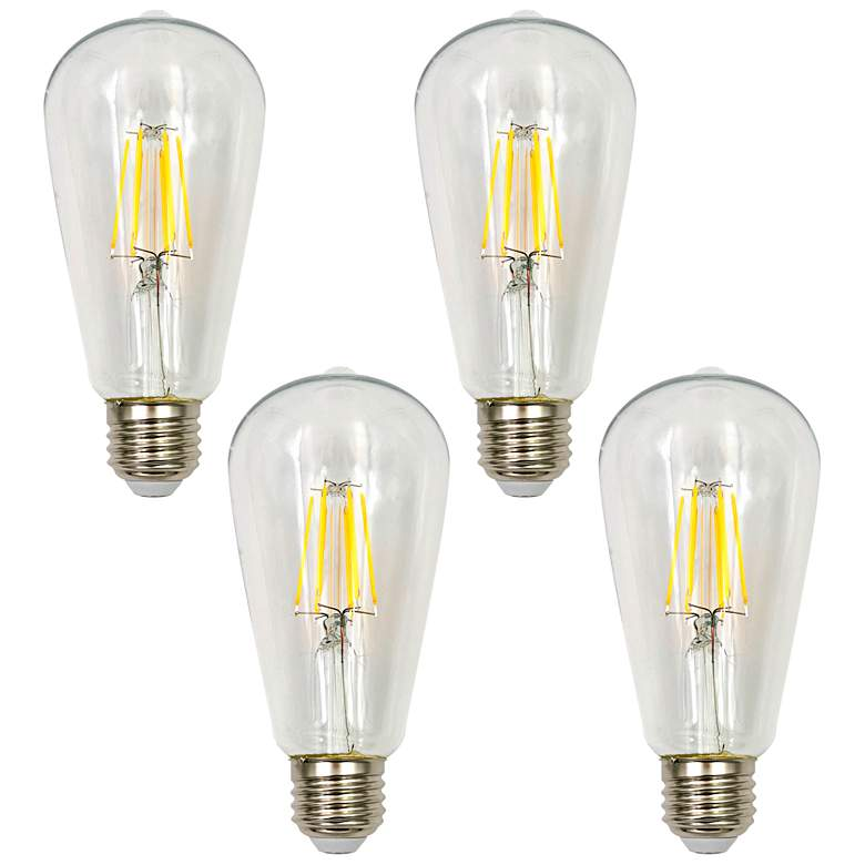 100W Equivalent Clear 15W LED Dimmable Standard ST21