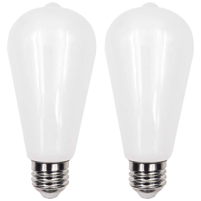 100W Equivalent Milky 15W LED Dimmable Standard ST21
