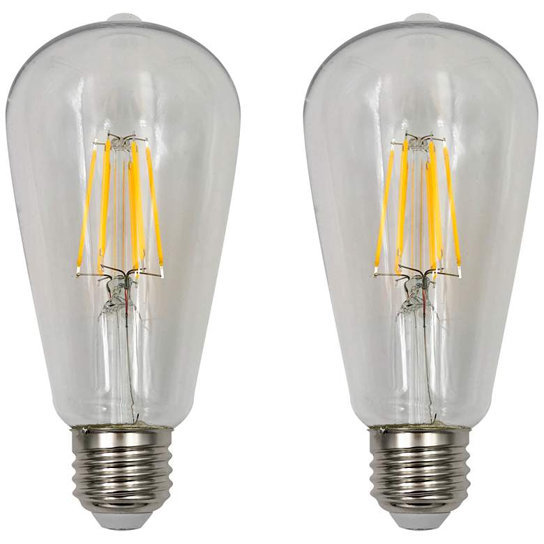 40W Equivalent Clear 4W LED Dimmable Standard ST19 2-Pack