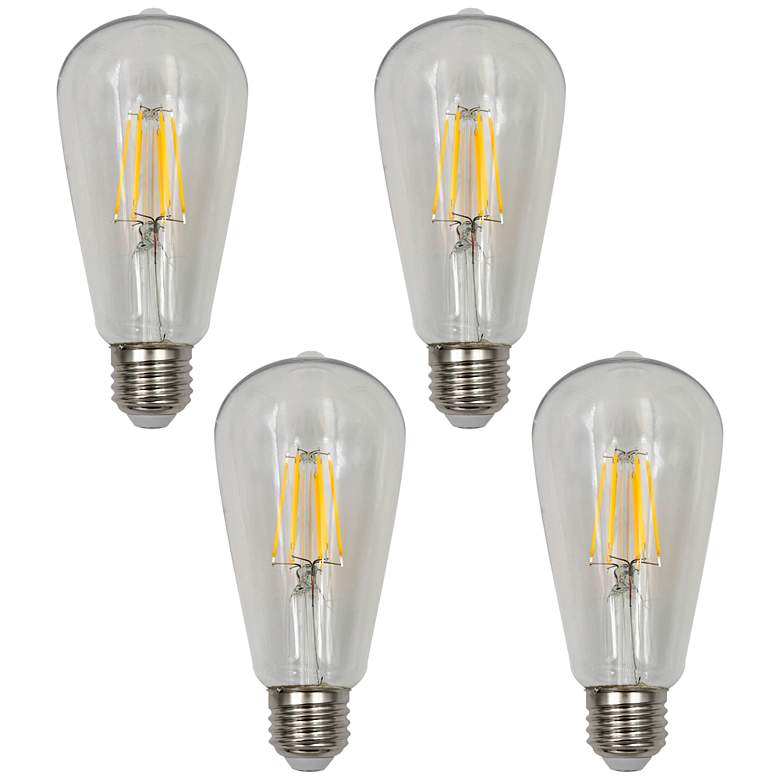 40W Equivalent Clear 4W LED Dimmable Standard ST19 4-Pack